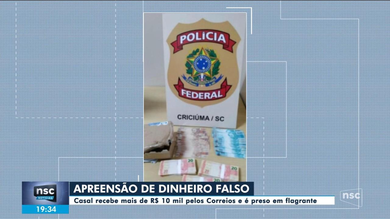 PF prende casal no Sul de SC com mais de R$ 10 mil em notas falsas