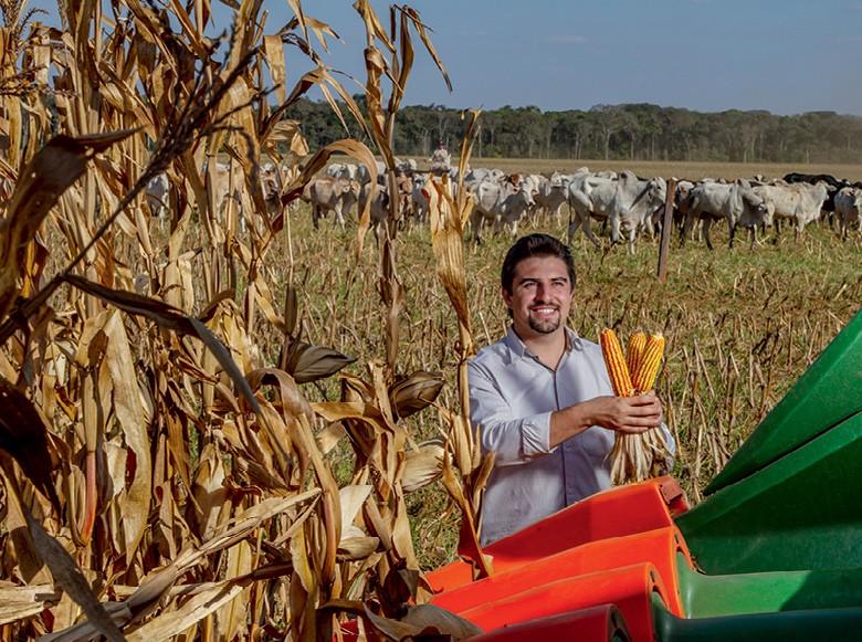 Etanol valoriza o milho em MT - Daniel Caneppele, na  Fazenda Águas de Chapecó, em Nova Mutum (Foto: Rogerio Albuquerque)