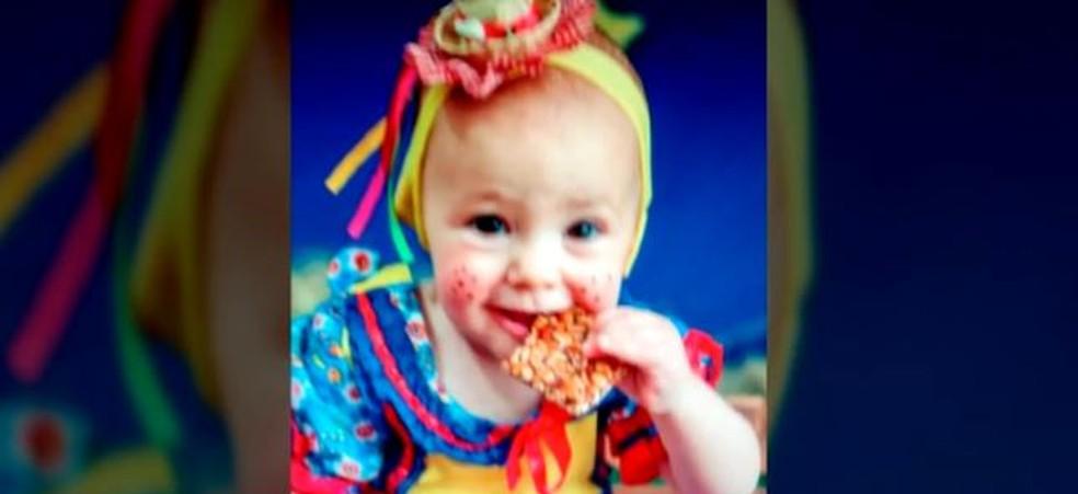 Sarah Luiza Mahle Sehn, de 1 ano e 7 meses — Foto: Reprodução/ NSC TV