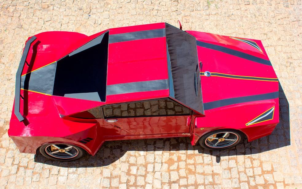 Carro artesanal chega até 40 km/h (Foto: Marcos Domício/Site Paramirim Eventos)