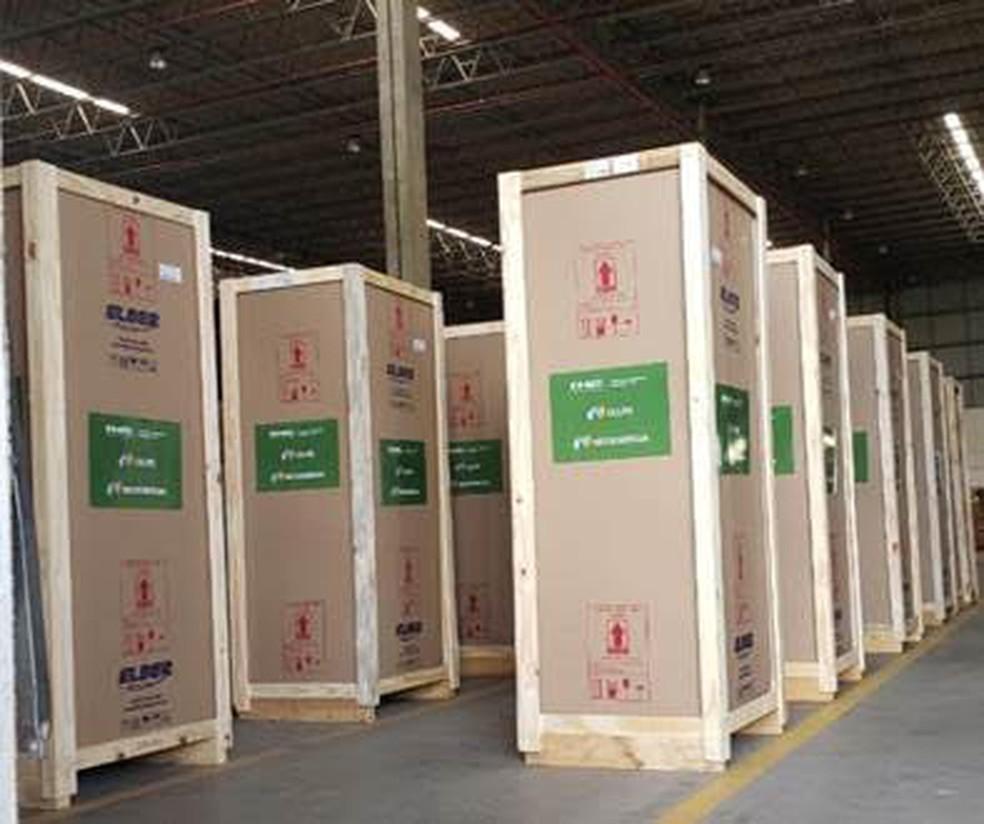 Refrigeradores científicos doados pela Celpe para cidades do interior de PE — Foto: Celpe/Divulgação