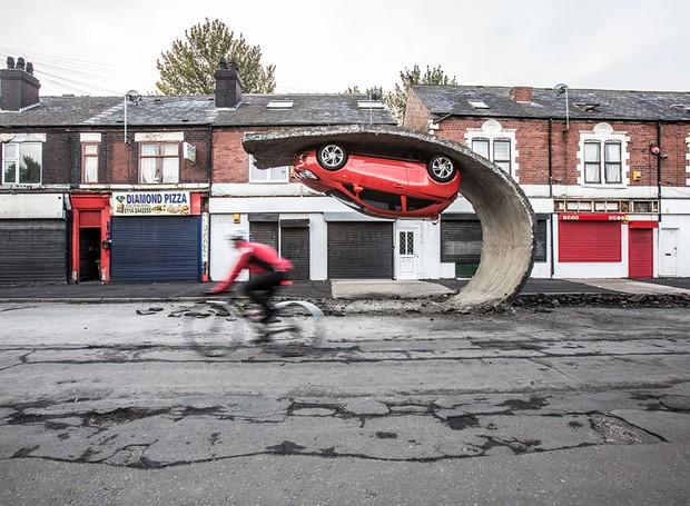 """'Pegue e junte-se"""", em Tinsley, um bairro de Londres (Foto: Divulgação)"""