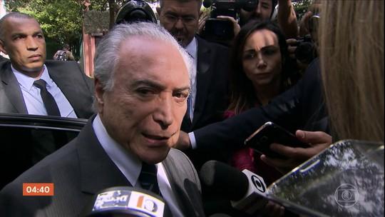 Michel Temer e o coronel Lima deixam a prisão em SP