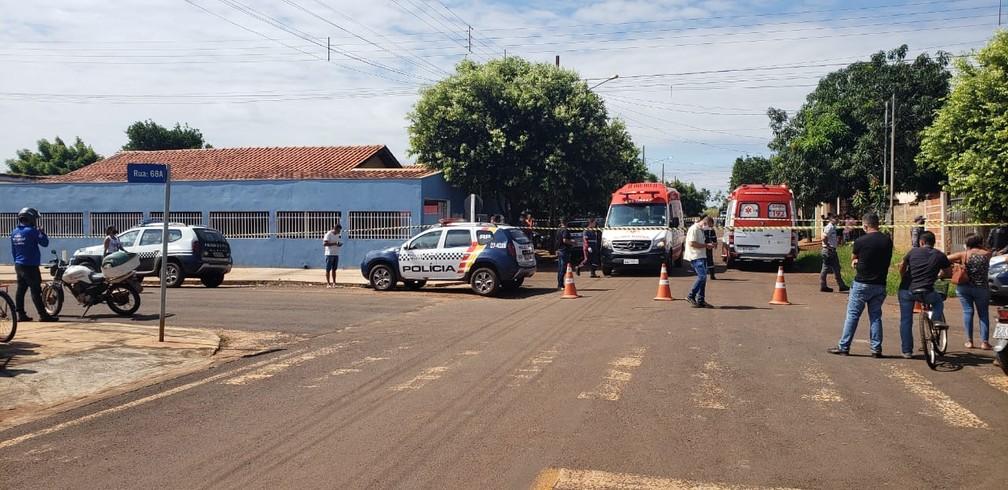 Crime foi cometido na casa do suspeito — Foto: PM-MT