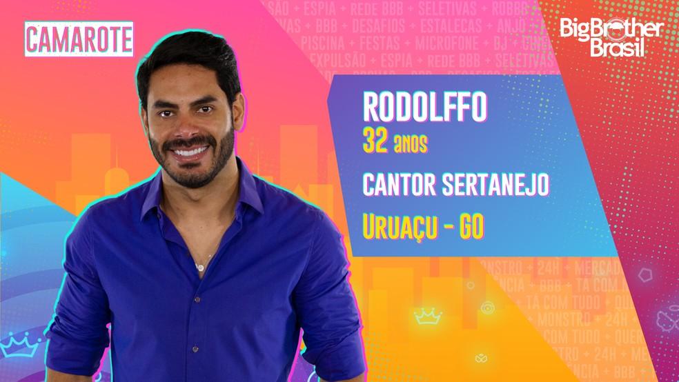 Rodolffo é participante do 'BBB21' — Foto: Divulgação/Globo