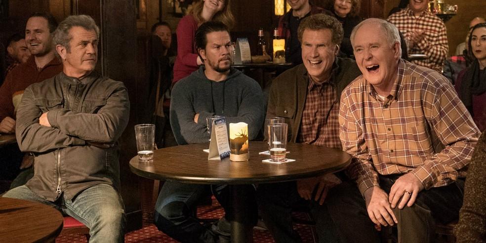 -  Mel Gibson, Mark Wahlberg, John Lithgow e Will Ferrell em  Pai em dose dupla 2   Foto: Divulgação