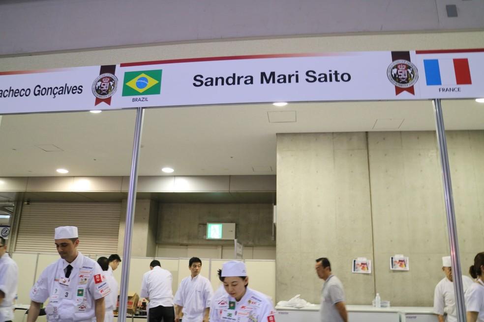 Brasileira Sandra Mari Saito ficou entre os cinco melhores na Copa do Mundo do Sushi — Foto: Arquivo Pessoal/Sandra Mari Saito