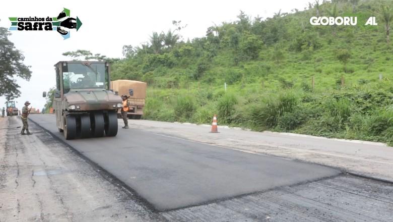 Caminhos da Safra - BR-163 em obras (Foto: Globo Rural)