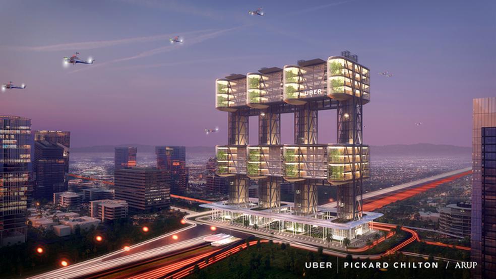 Sky Tower, um dos protótipos de Uber Skyport (Foto: Divulgação/Uber)