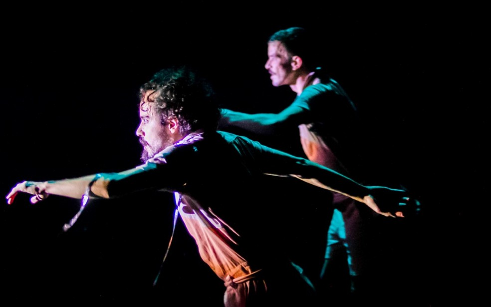Apresentação de dança do grupo cênico Ateliê do Gesto, Goiás  — Foto: Daniel Calvet / Arquivo pessoal
