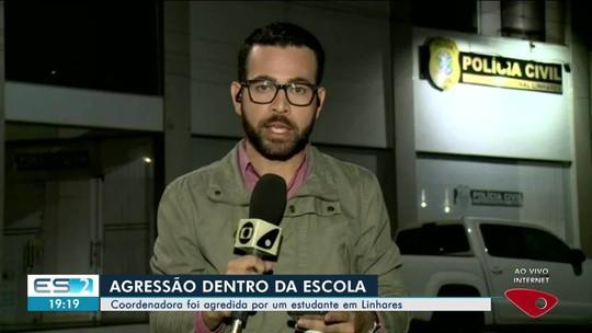 Coordenadora denuncia aluno por agressão dentro de escola em Linhares, ES