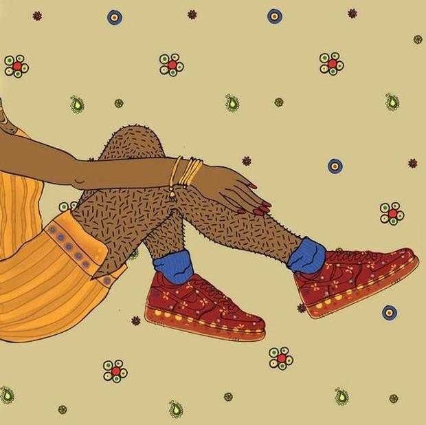 Ilustração da artista paquistanesa Ayqa Khan (Foto: Reprodução)