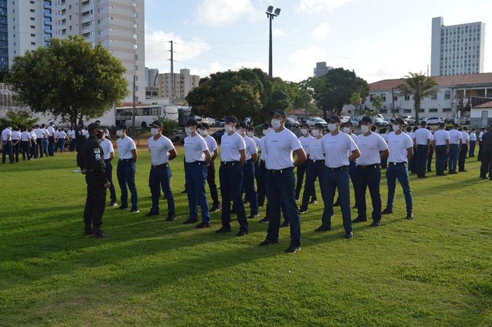 Alunos do curso de soldado da PM RN em Natal (Arquivo) — Foto: PM/Divulgação