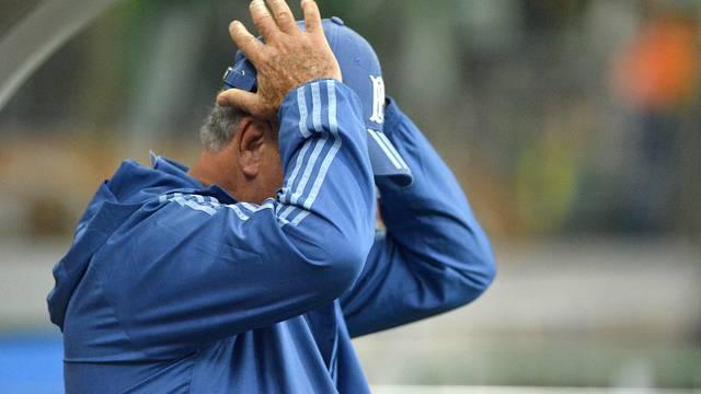Felipão lamenta a eliminação do Palmeiras na Libertadores