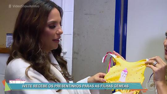 Gêmeas de Ivete Sangalo ganham presentes sugeridos por fãs