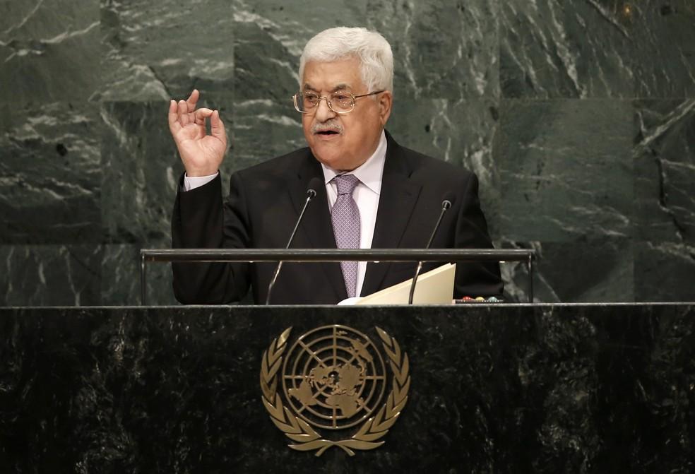 Presidente da Autoridade Nacional Palestina (ANP) Mahmud Abbas, em imagem de arquivo (Foto: REUTERS/Mike Segar)