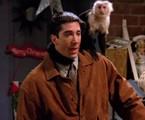 Macaca Katie e David Schwimmer em cena de 'Friends' | Reprodução