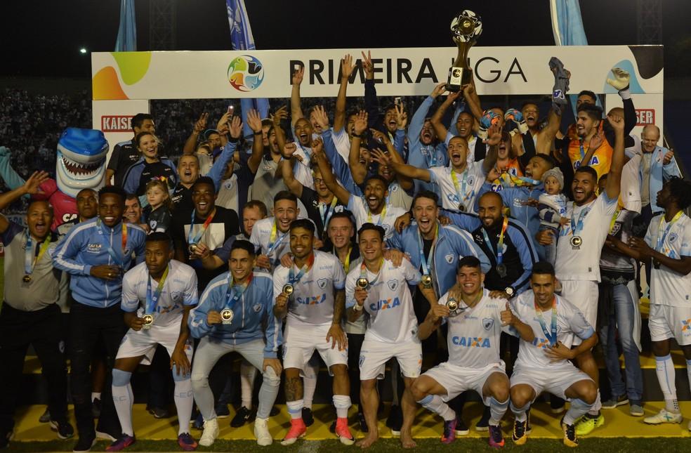 Em 2017, o Londrina conquistou a Primeira Liga ao superar o Atlético-MG na decisão, no Estádio do Café (Foto: Gustavo Oliveira/ Londrina Esporte Clube)