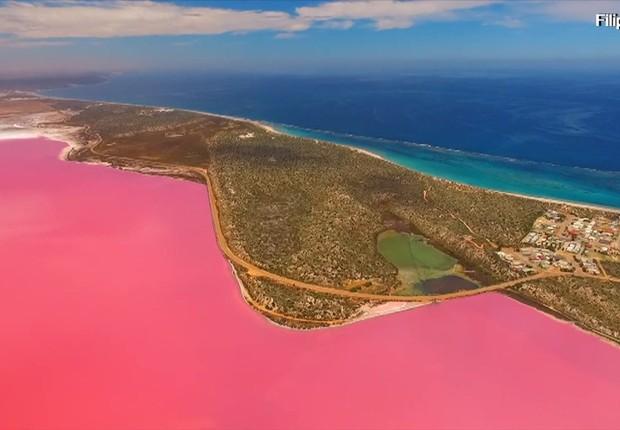 Lago Hutt, na Austrália (Foto: Divulgação via BBC)