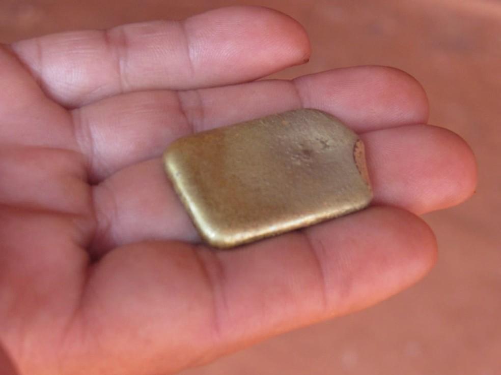 Ouro apreendido na Operação Trypes — Foto: Polícia Federal de Mato Grosso/Assessoria
