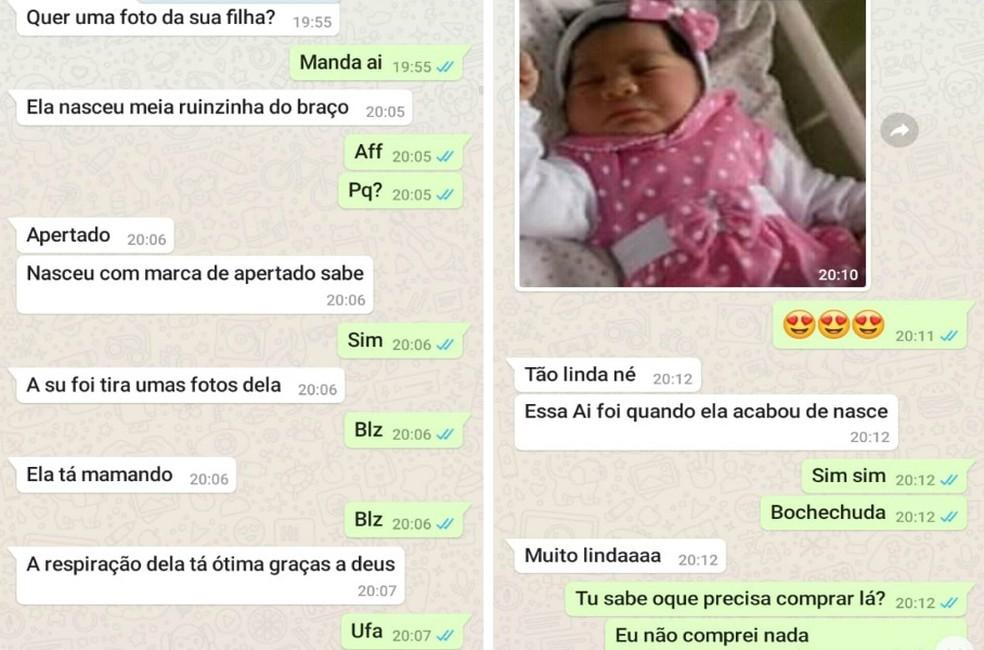 Pai de gestante teria mentido para o genro sobre o nascimento da neta em São Vicente, SP — Foto: Arquivo pessoal