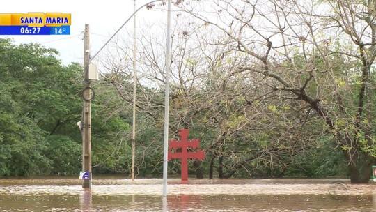Cidades do Norte do Rio Grande do Sul registram alagamentos por causa de chuva forte