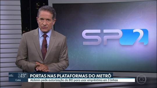 Governador Geraldo Alckmin pede autorização do BID para usar empréstimo no metrô