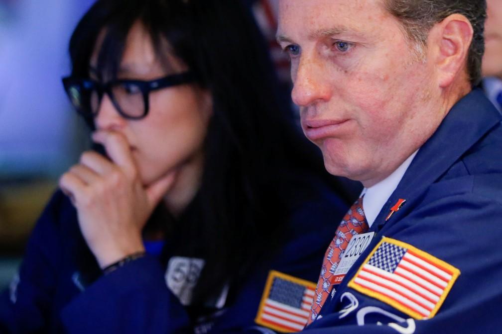Mercados tiveram queda com temor de guerra comercial — Foto: Reuters