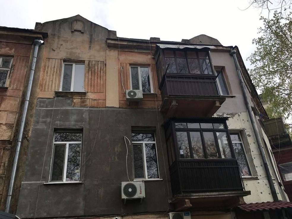 Apartamento de 'James' na Ucrânia — Foto: BBC