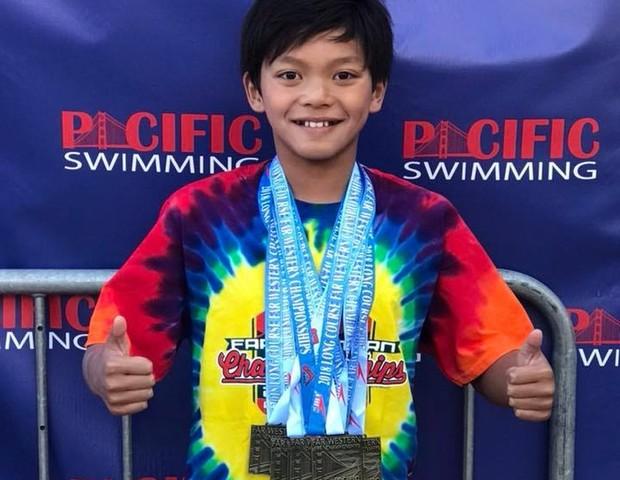Clark Kent, o menino da Califórnia que bateu o recorde do nadador Michael Phelps (Foto: Divulgação)