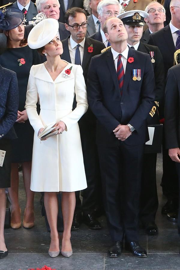 Kate Middleton e Príncipe William em um evento formal em Bruxelas, em 2017 (Foto: Getty Images)