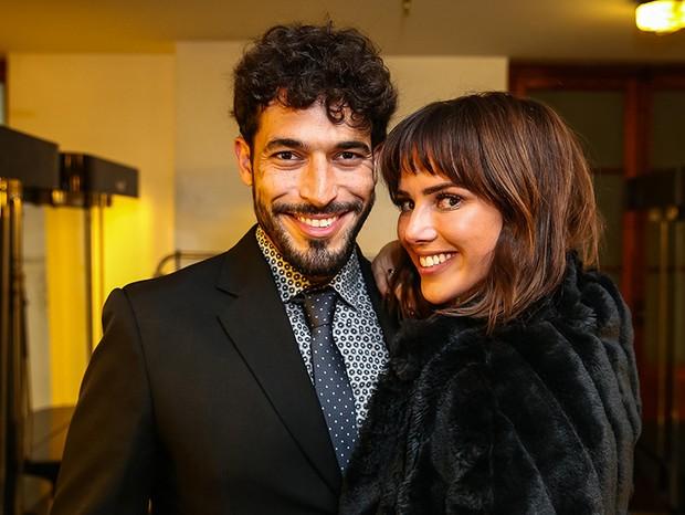 Natallia Rodrigues e o noivo, Pedro Moutinho (Foto: Raphael Castello/AgNews)