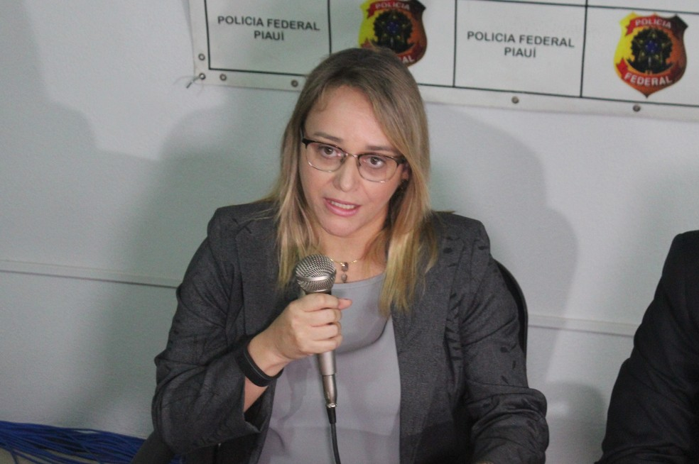 Milena Caland, delegada de Polícia Federal — Foto: Lucas Marreiros/G1