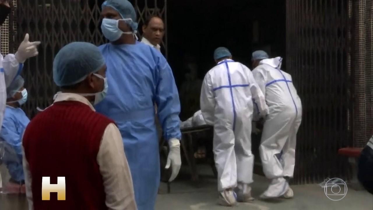 Índia passou de nove milhões de casos de Covid-19