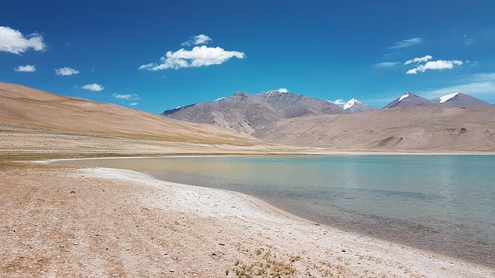 Kyogar Tso, em Ladakh, na Índia (Foto: Rafael Miotto / G1)
