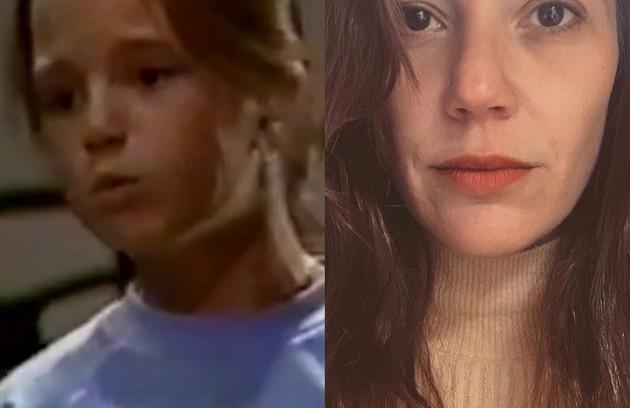Natália Lage estreou em novelas em 'O Salvador da Pátria' como Regina, filha de João (José Wilker) e Angela (Lucinha Lins). A atriz fará 'Um lugar ao Sol', trama das 21h (Foto: Globo e reprodução)