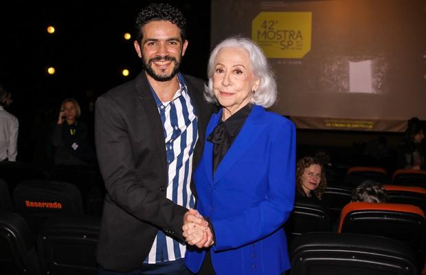 Vinicíus de Oliveira e Fernanda Montenegro (Foto: Thiago Duran/AgNews)