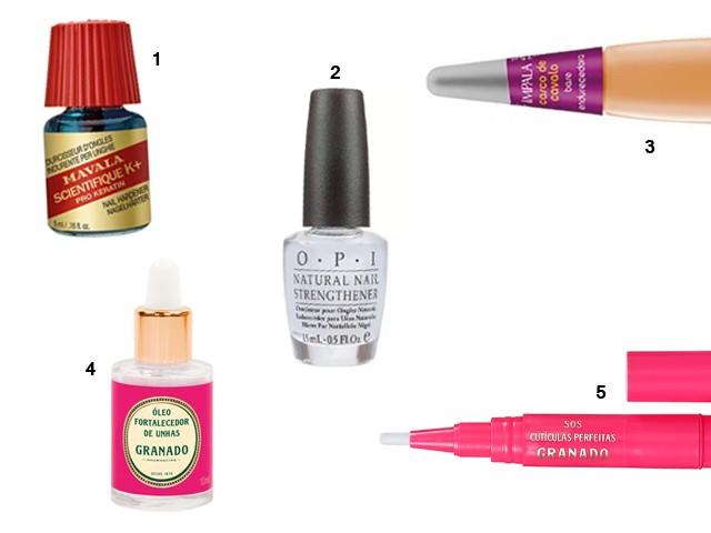 Produtos de cuidados com as unhas (Foto: divulgação)