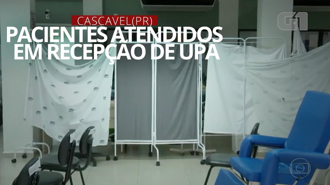 VIDEO: Com falta de leitos, pacientes com Covid-19 são atendidos em recepção de UPA em Cascavel (PR)