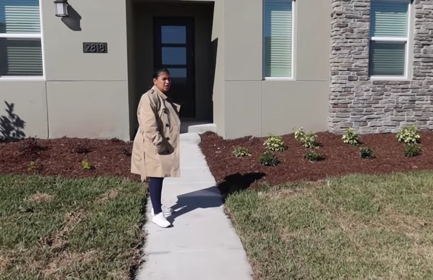 Entrada da casa de Simone depois da obra (Foto: Reprodução)