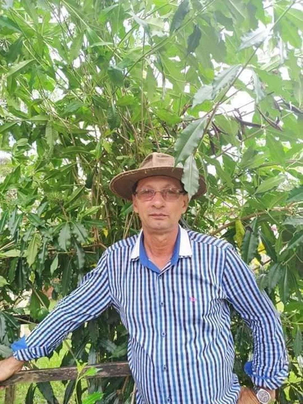 Valmir Francisco dos Anjos, de 60 anos, desapareceu após sair para pescar em Cacoal — Foto: Reprodução/Redes sociais