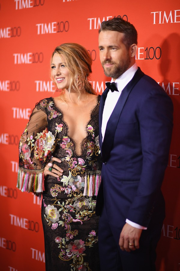 A atriz Blake Lively com o marido, o ator Ryan Reynolds (Foto: Getty Images)