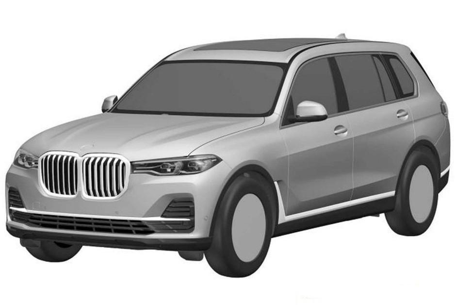 Desenho da dianteira do BMW X7 registrado no INPI (Foto: Divulgação)