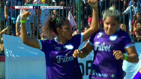 Os gols de Curral das Éguas 2 x 0 Corte Oito pela decisão feminina da Taça das Favelas