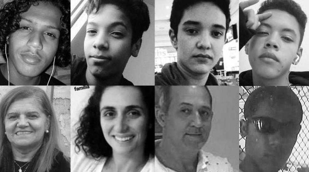 Assassinos mataram oito pessoas — Foto: Infografia: Juliane Souza/Editoria de Arte G1