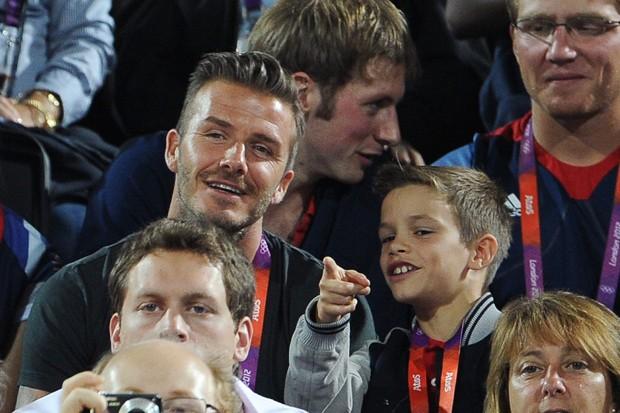 David Beckham e seu filho, Romeo Beckham (Foto: Getty Images)