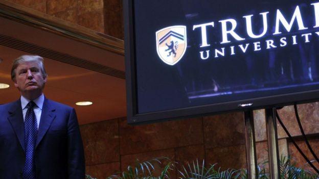 Donald Trump enfrentou uma longa disputa judicial por causa de seu empreendimento acadêmico (Foto: Getty Images via BBC News)