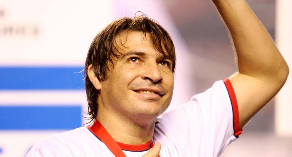 Luizão tem 29 gols em Libertadores. Um deles foi na final de 2005, quando o São Paulo derrotou o Atlético-PR — Foto: Tom Dib/Futura Press