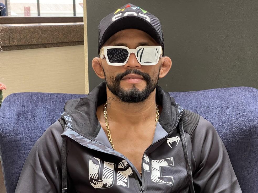 Deiveson Figueiredo revelou problemas particulares em Belém antes da luta contra Brandon Moreno no UFC 263 — Foto: Evelyn Rodrigues