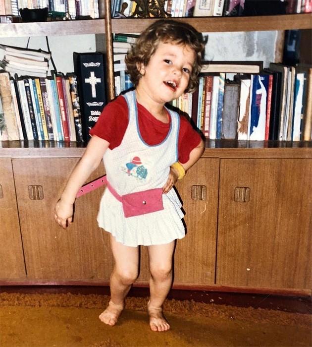 Paolla Oliveira quando era criança (Foto: Instagram)